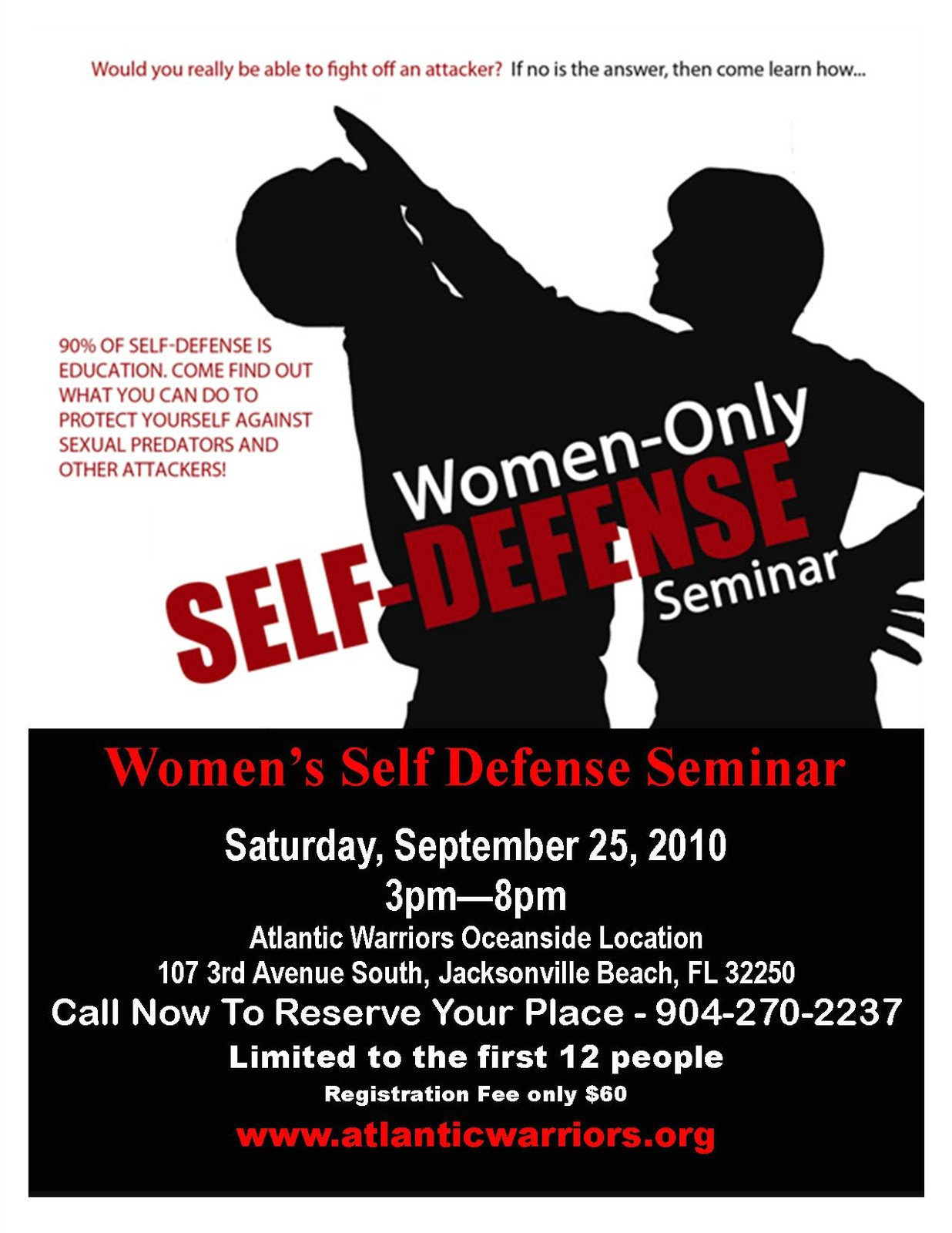womens self defense course equips