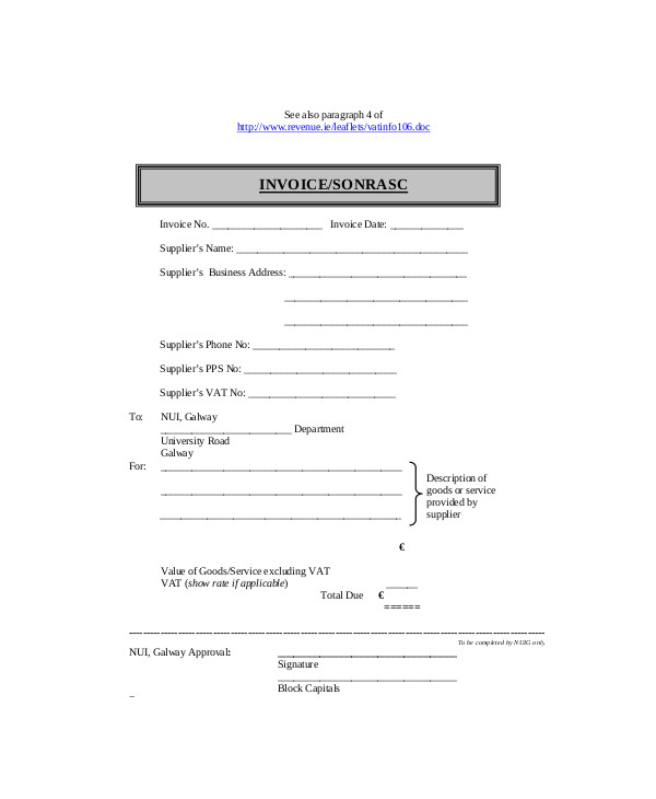 self employed invoice template 1713