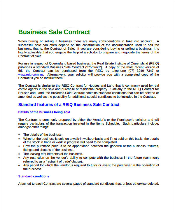 sales contract templates
