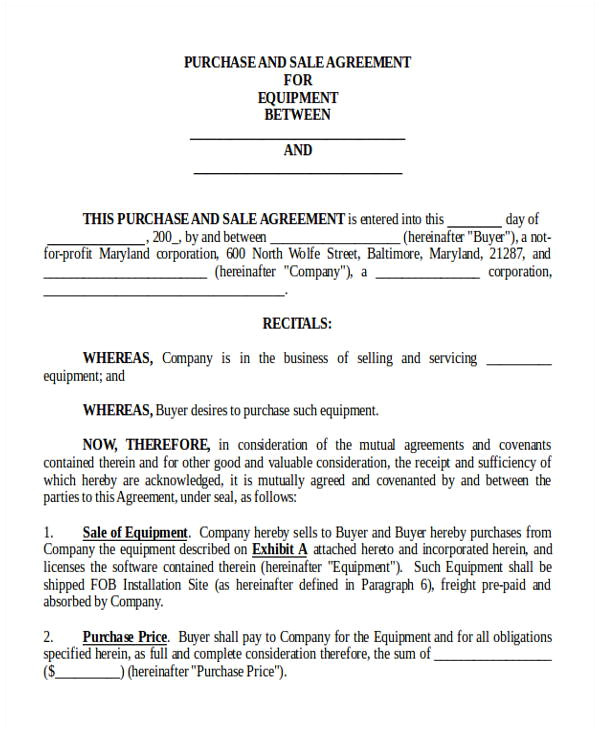 Selling A Small Business Contract Template 8 Sample Purchase and Sale Of Business Agreements