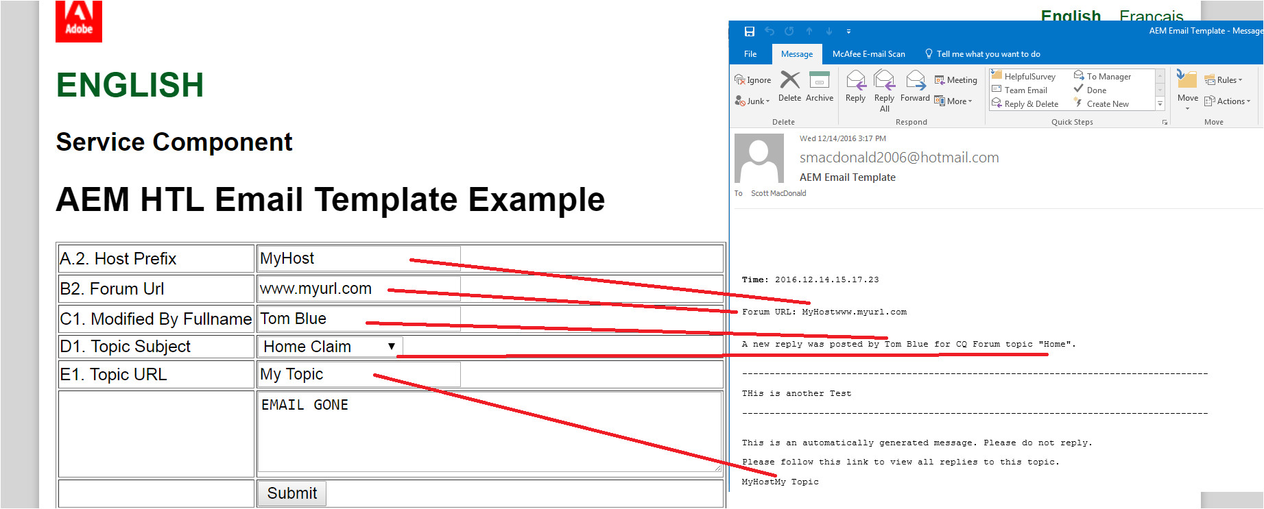Send An Email Message Based On A Template Creating Adobe Experience Manager Htl Components that Send