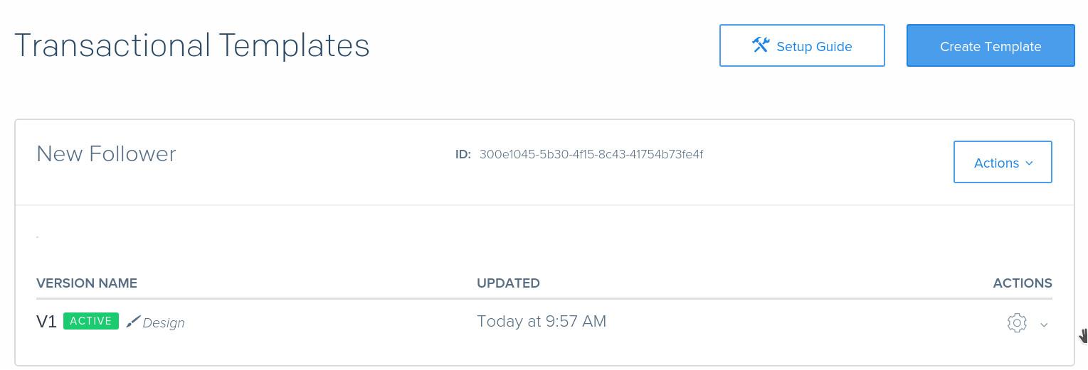 sendgrid v3 nodejs transactional email cloud function