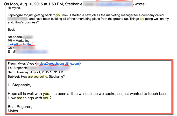 email to old clients template