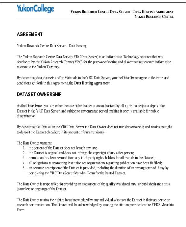 hosting agreement template
