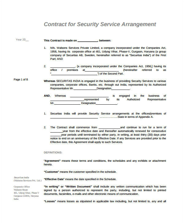 simple service agreements
