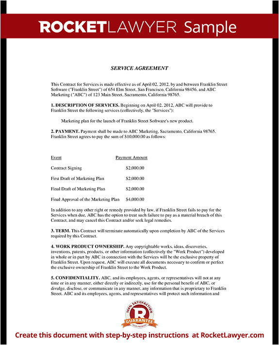Service Contract Agreement Template Accounting Contract Make Your Accounting Agreement
