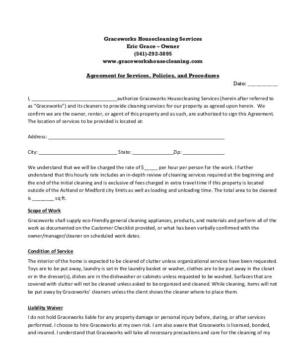 Service Contract Template Pdf 13 Sample Cleaning Service Contract Template Pages