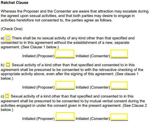 Sex Contract Template Consensual Sex Contract Controversial software Creates