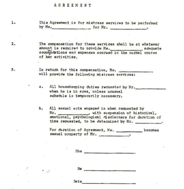 the mistress contract how couple laid rules relationship