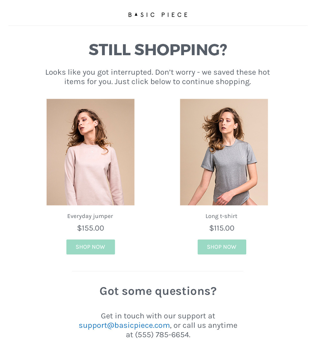 abandoned cart shopify