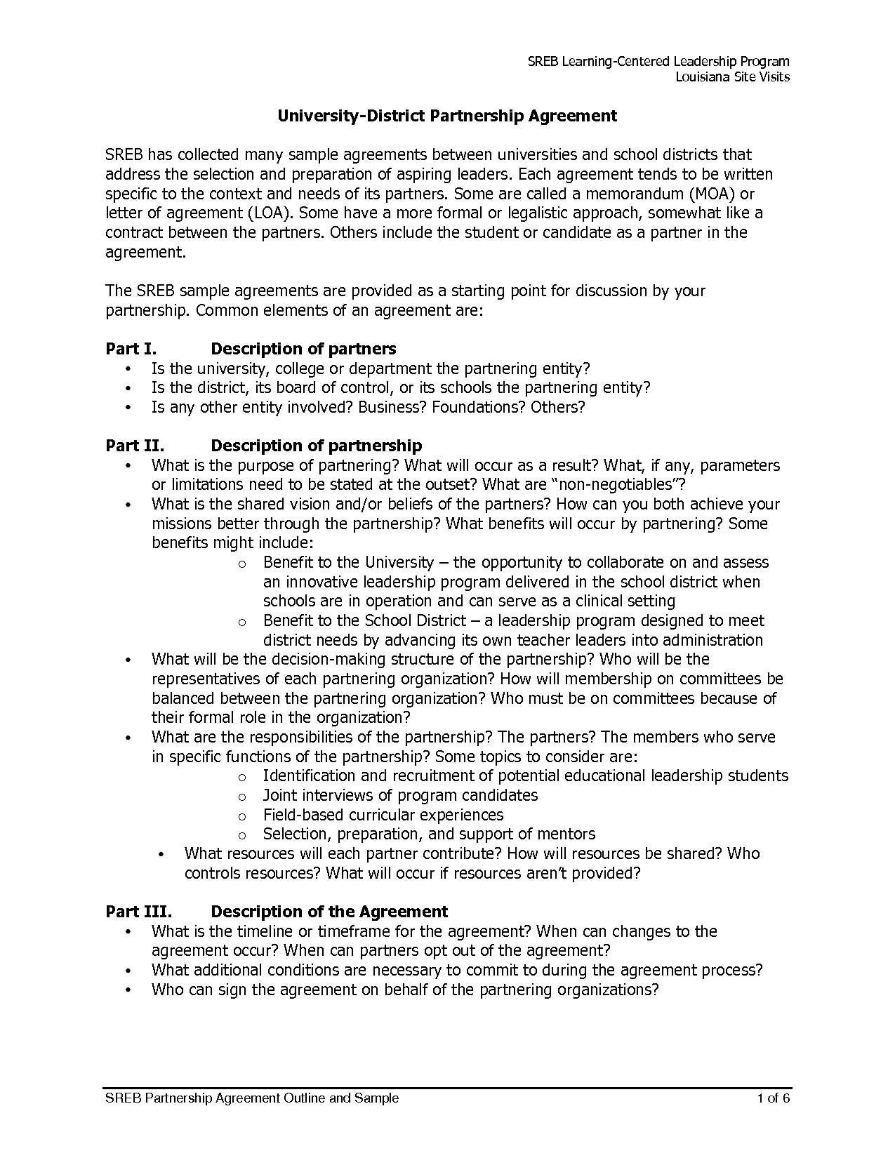 school partnership agreement sample original silent partner contract template 28 images free silent ce g68324