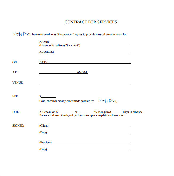 Simple Band Contract Template Sample Music Contract Template 22 Free Documents In Pdf