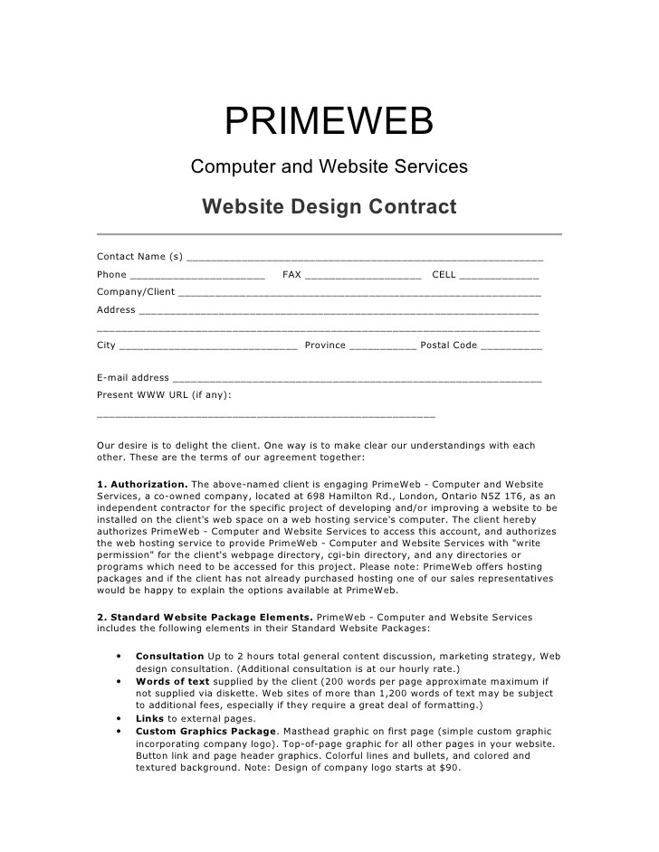 web design contract 3860396