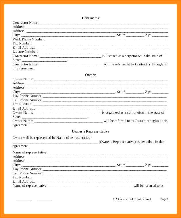 Simple Works Contract Template 9 10 Simple Work Contract Template Lascazuelasphilly Com