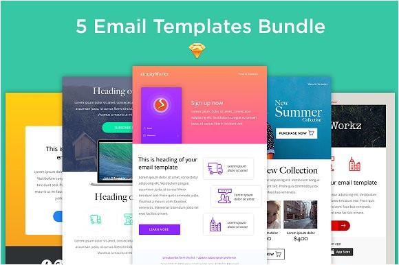1014678 5 email templates bundle sketch