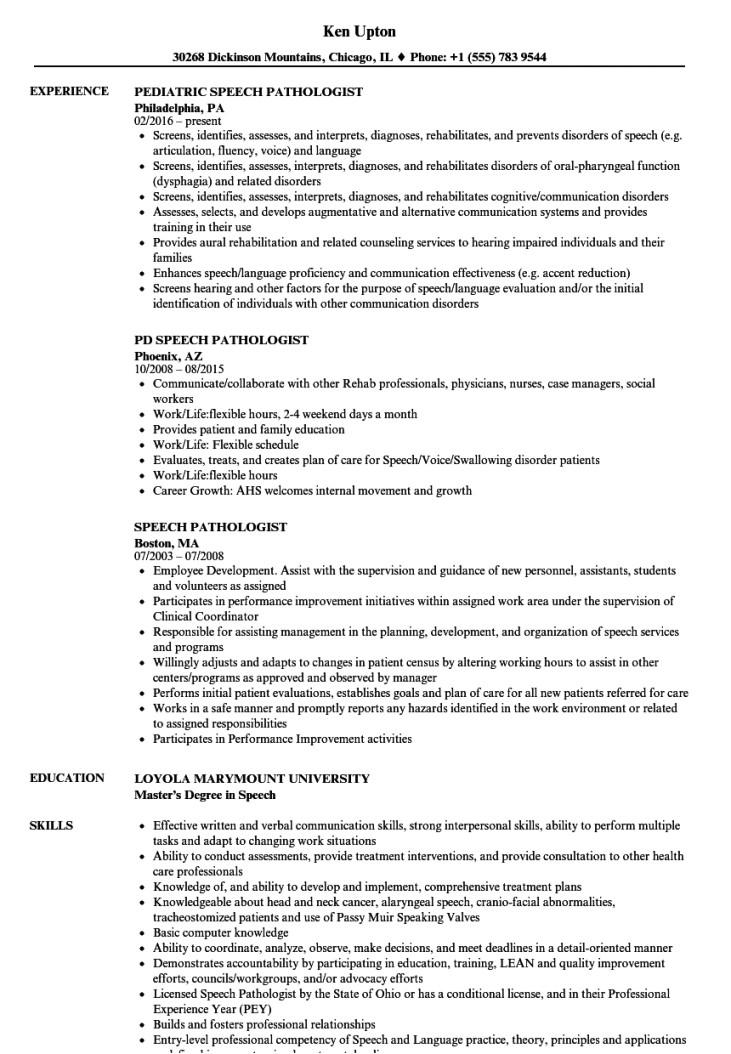 speech pathologist resume samples velvet jobs speech therapy contract template
