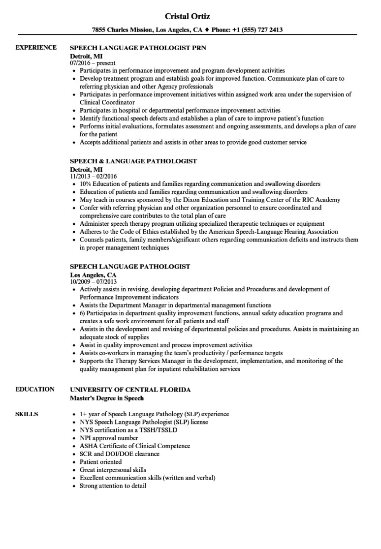 Slp Contract Template Speech therapy Contract Template