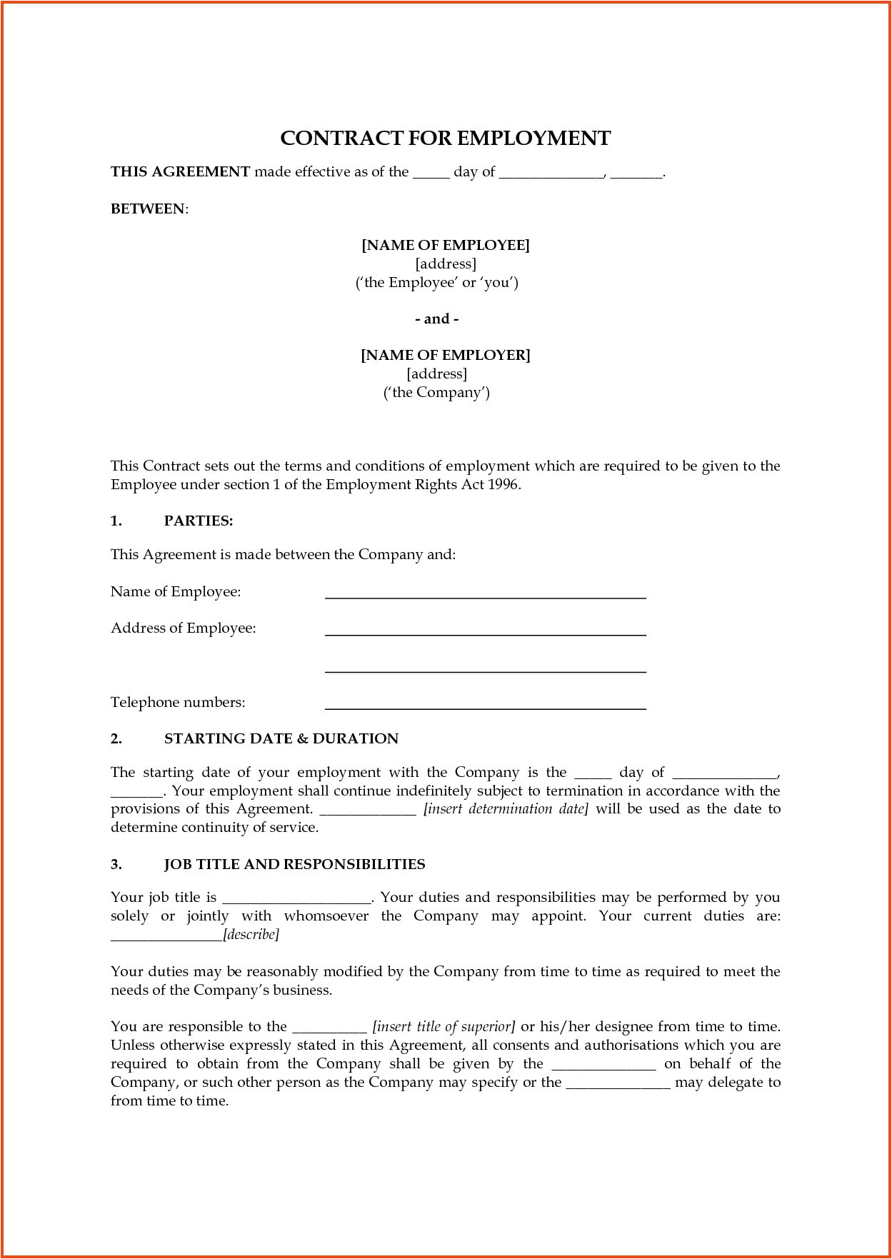 business contract template pdf new business contract template