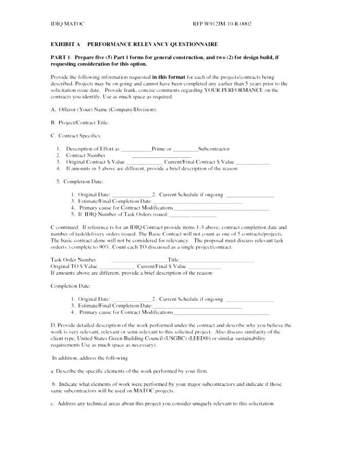 idiq contract template