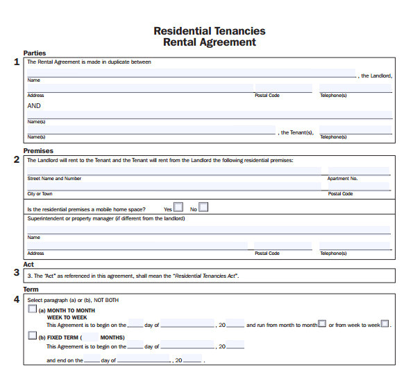 Sober Living Contract Template Sample Apartment Rental Agreement Template 7 Free