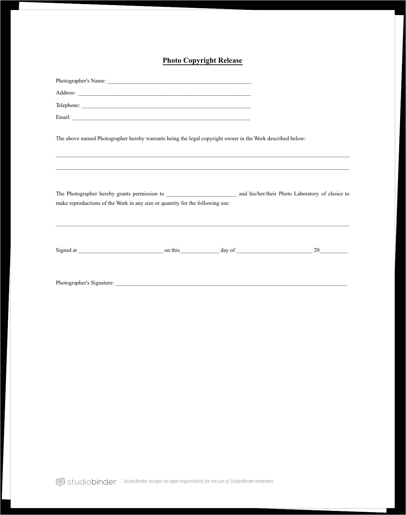 complete guide actor release form template