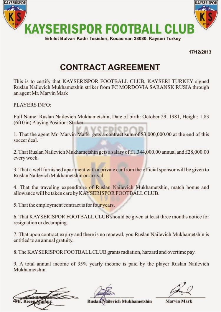 Soccer Contract Template Scampolice Group Scammer Messages Database Scampolice
