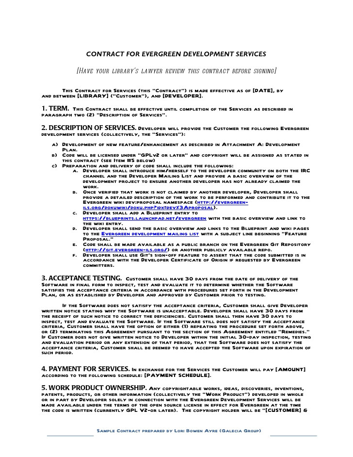 development contract sample