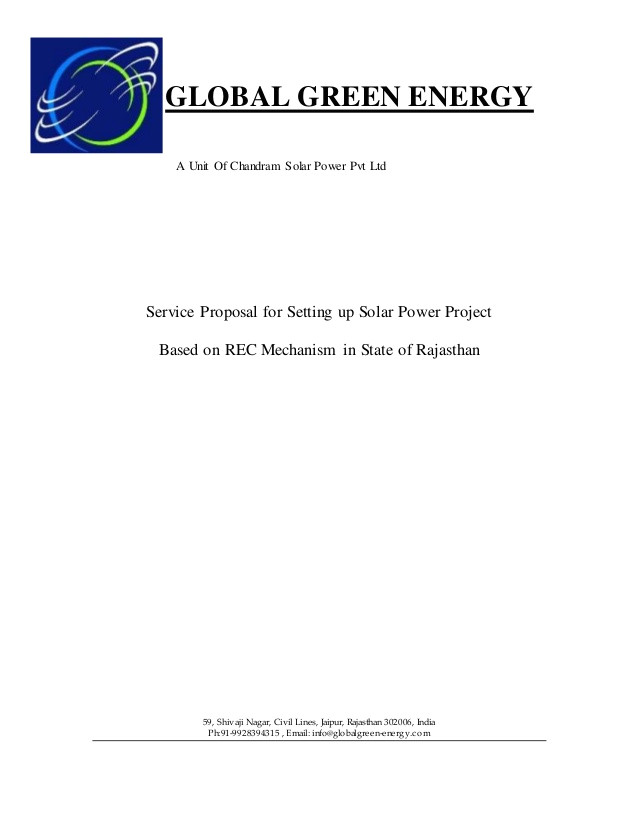 epc service proposal for setting up solar power project standard template