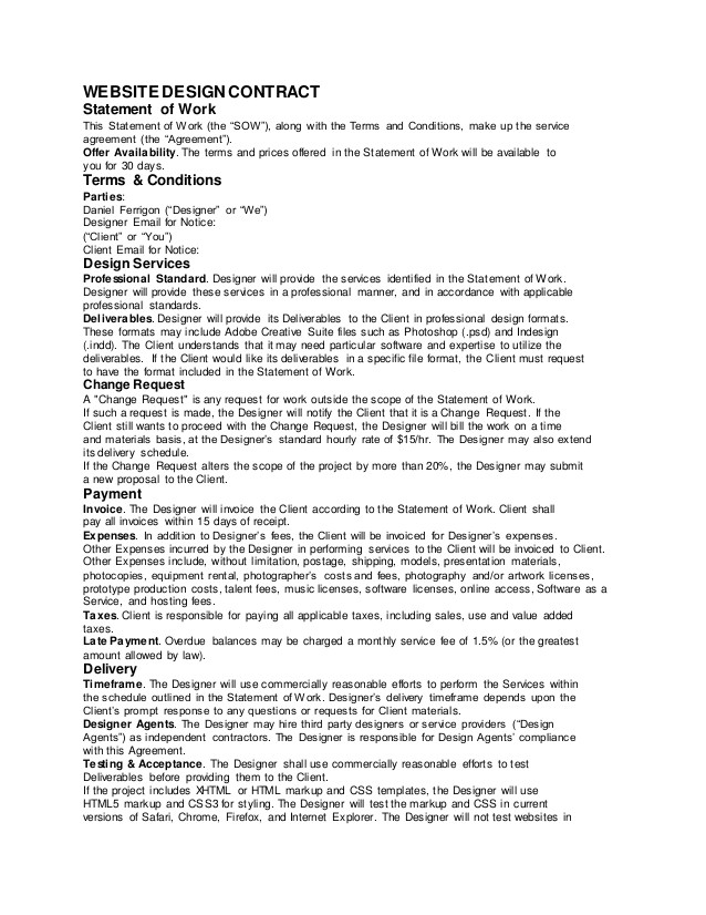 download sow contract template free