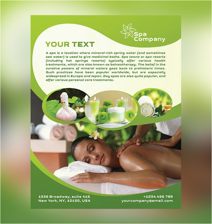 free spa flyer psd templates