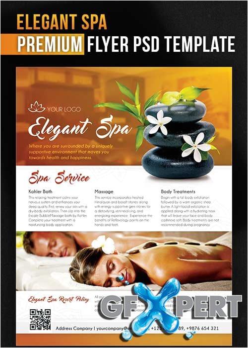 9934 elegant spa flyer psd template facebook cover