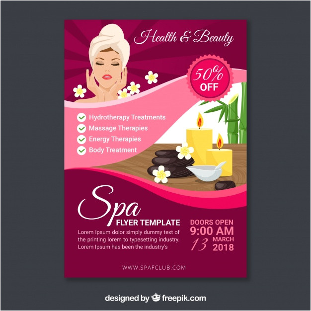 spa flyer template in flat design 2029761