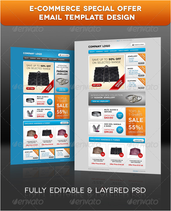 download graphicriver e commerce special offer email template design