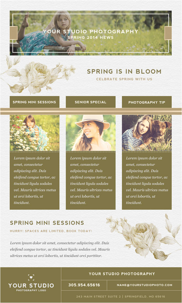 april 2014 spring email newsletter template