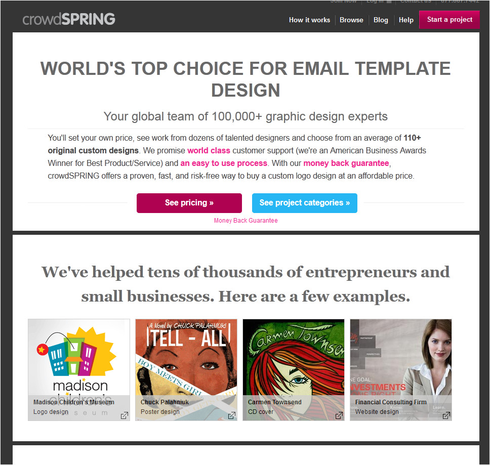 crowdspring email template design