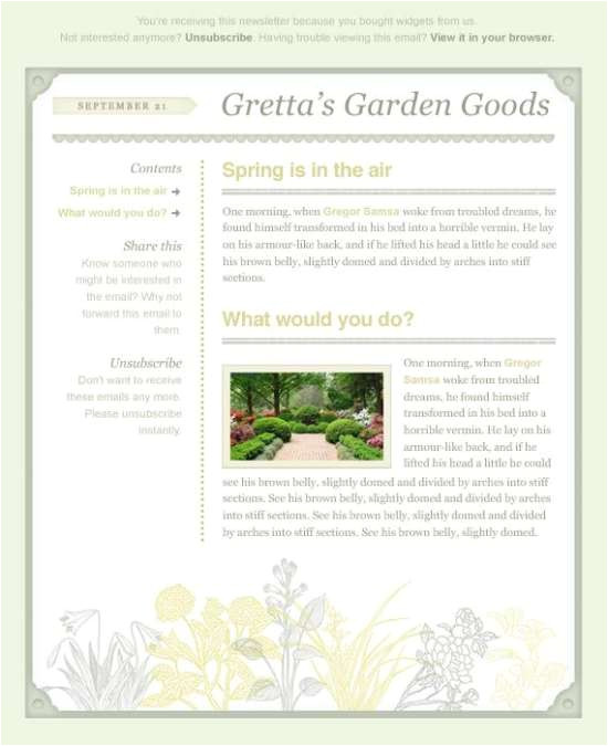 Spring Email Template Download 60 Free Email Templates Xdesigns