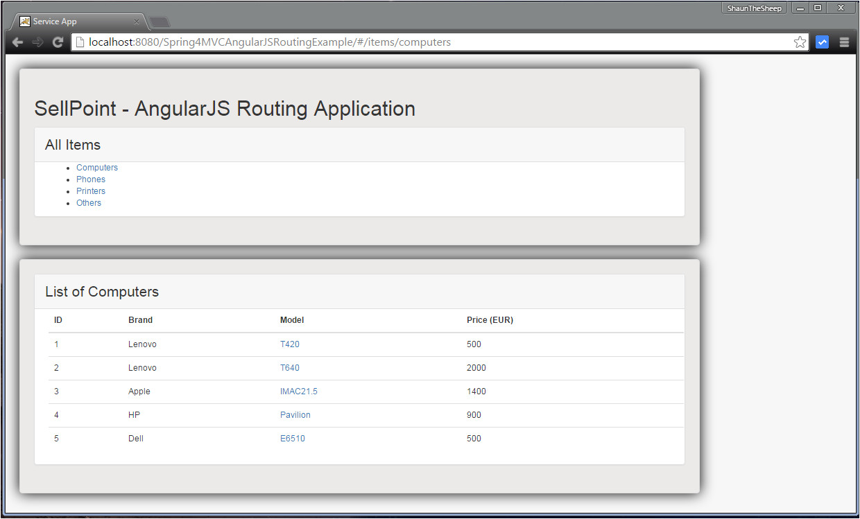 spring 4 mvc angularjs routing example using ngroute