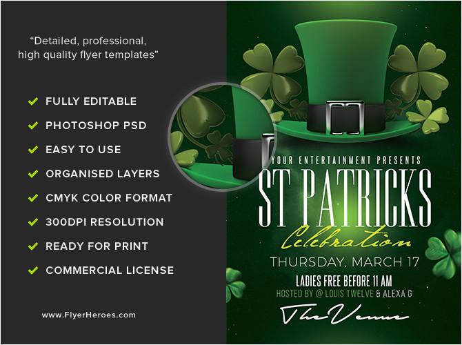 st patricks day flyer template 3