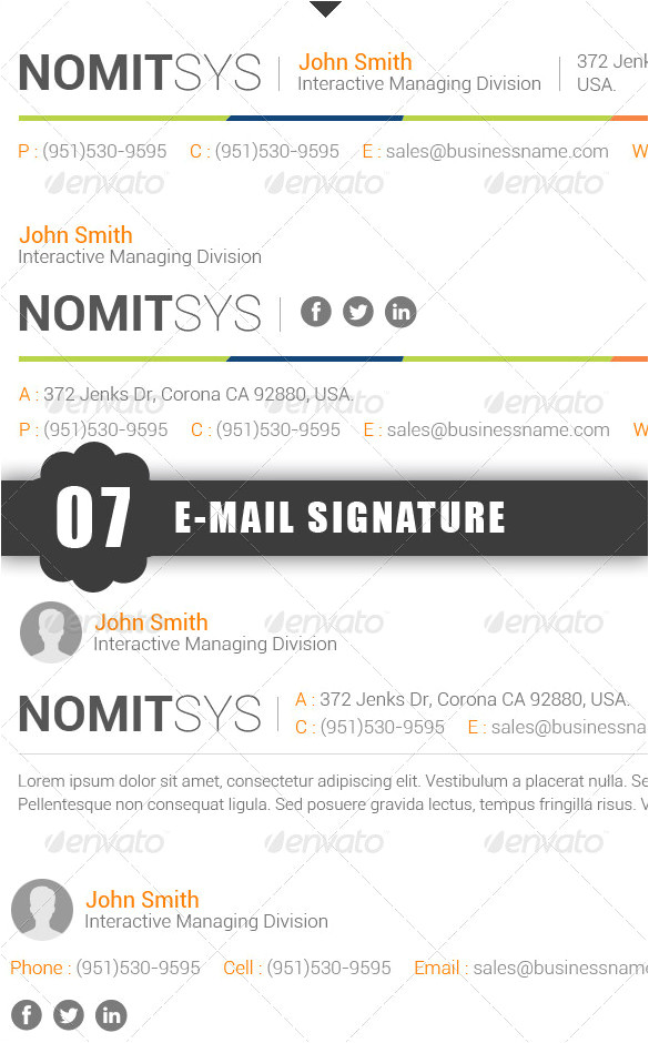 free email signature design templates
