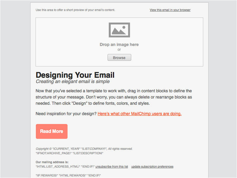 Standard Email Template Width Adaptive buttons Email Design Reference