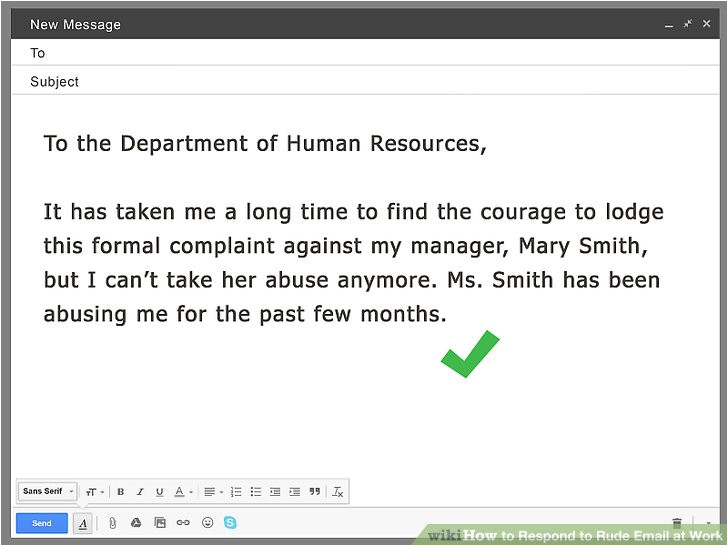Stinker Email Template How to Respond to Rude Email at Work 13 Steps with Pictures
