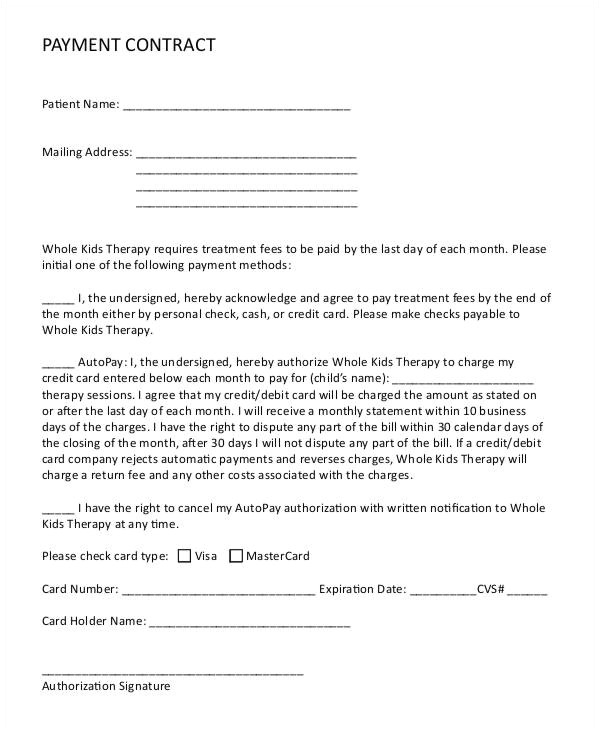 Stipend Contract Template 10 Payment Contract Templates Free Word Pdf format