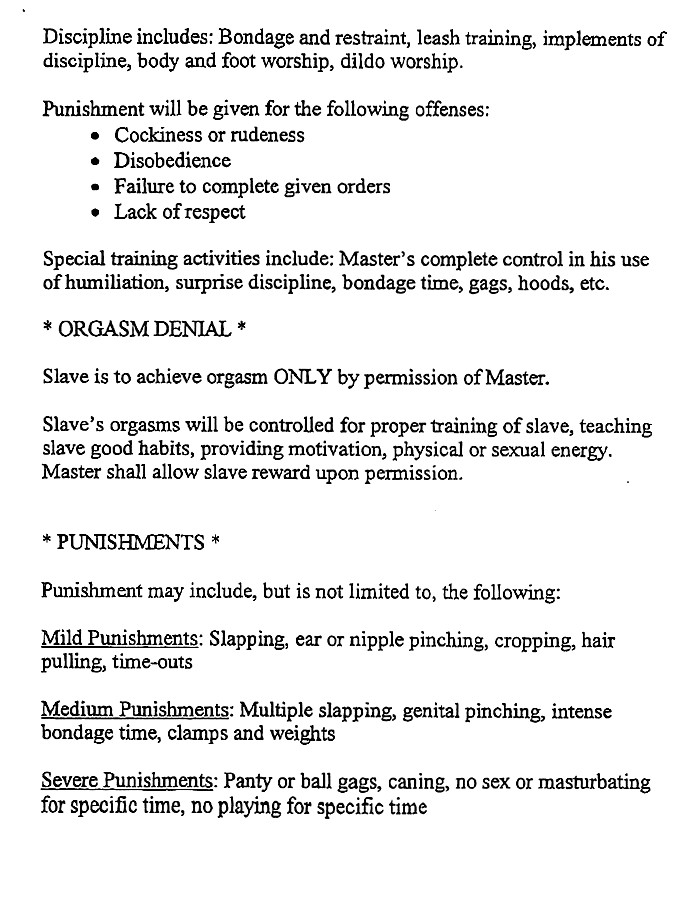 master submissive contract agreement elegant relatively dysfunctional slavery contract ea t41592