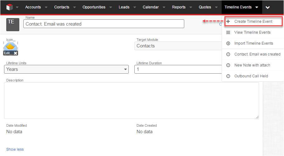 sugarcrm email template custom module