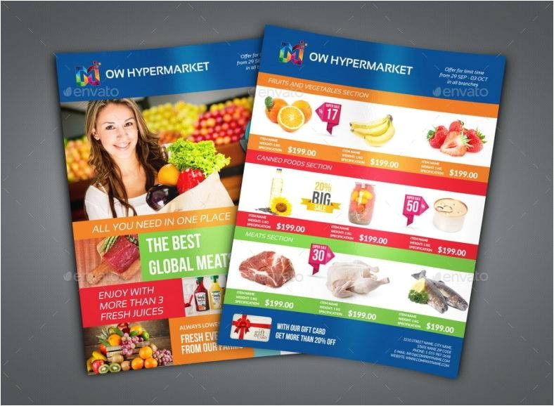 supermarket flyer designs templates psd ai indesign