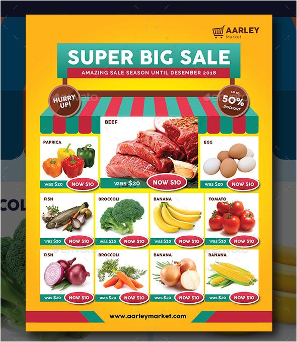 supermarket flyer designs templates psd ai indesign