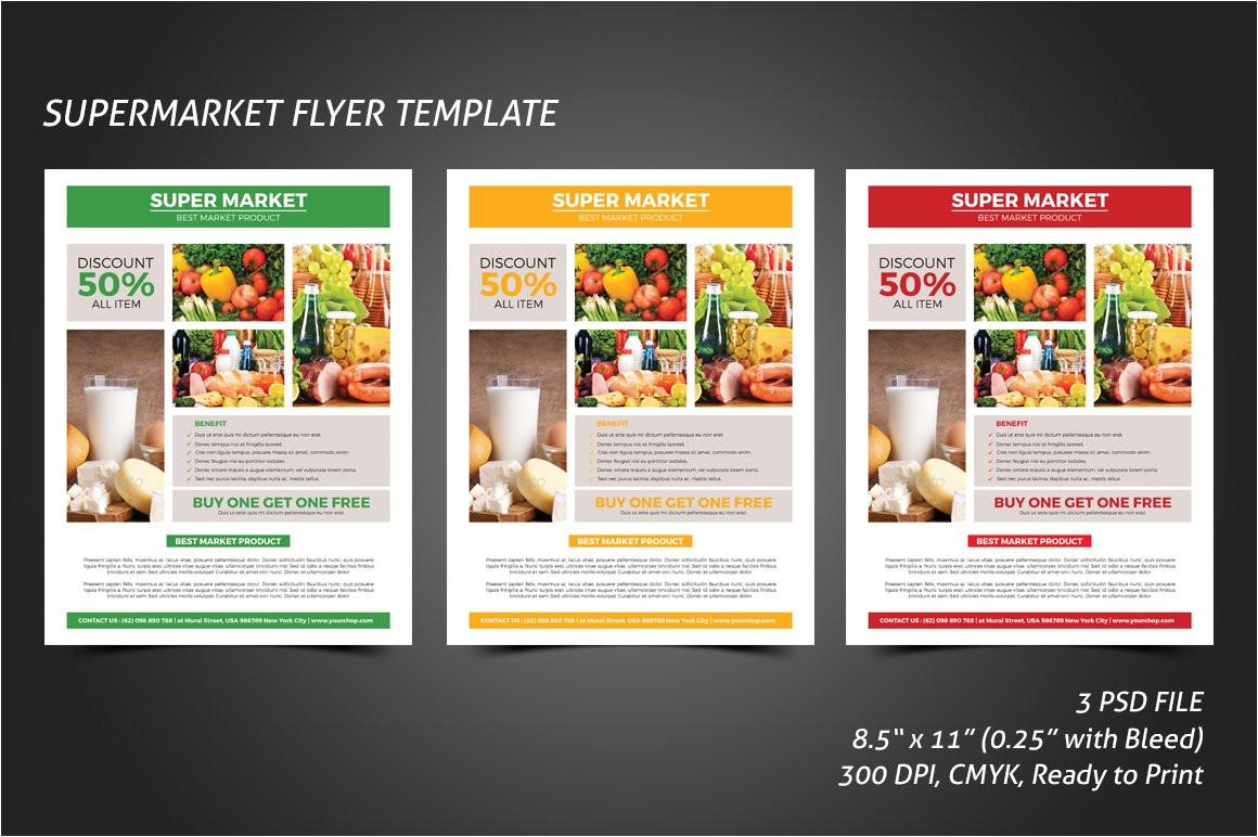 Supermarket Flyer Template Supermarket Flyer Template Flyer Templates Creative Market