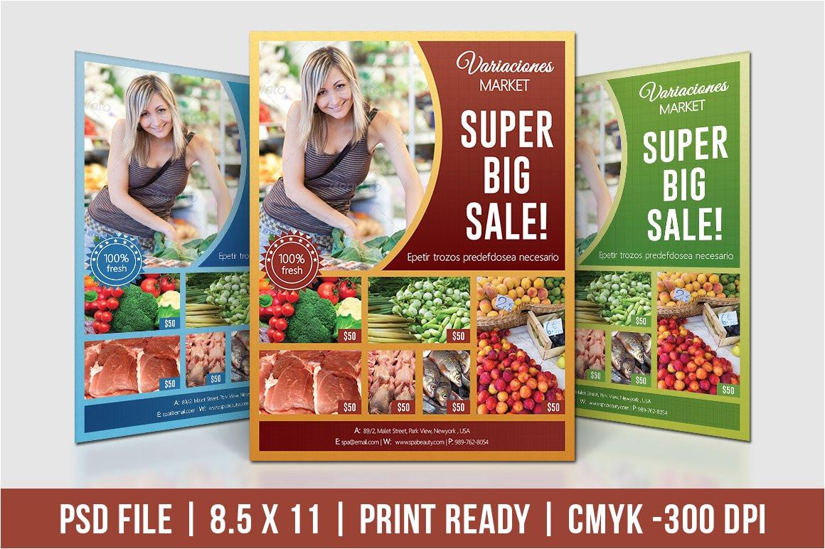 483442 supermarket product promotion flyer
