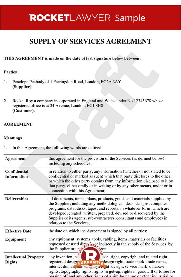 services agreement rl