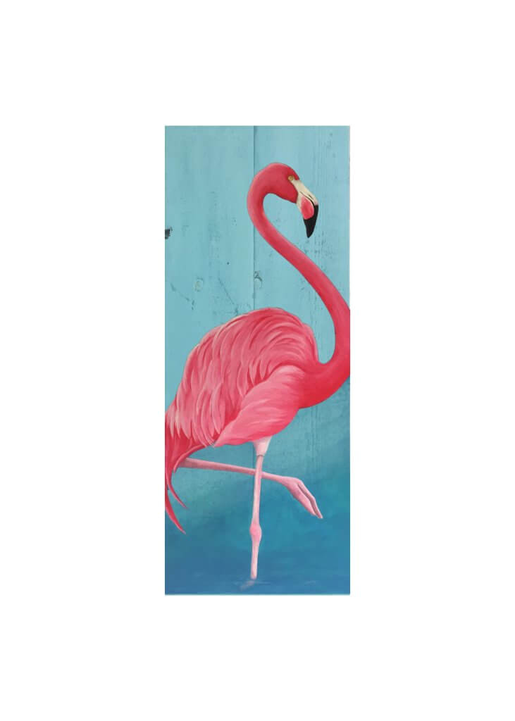 flamingo pallet canvas at swig of color studio